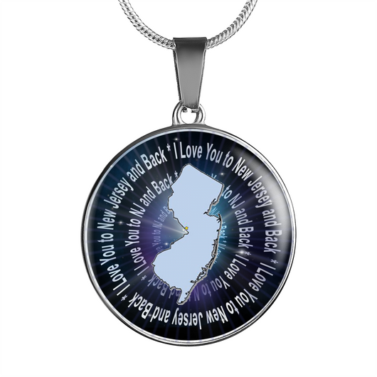 I Love You to New Jersey and Back Pendant Necklace - NJ Bangle Bracelet - made by Paul