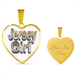 Jersey Girl Heart Necklace or Bangle Bracelet