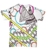 "Colored Tangle Art T Shirt - ""Pathway"" Design hand drawn by ZenJoanie"