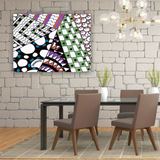 "Zentangle Art by ZenJoanie: ""Angles"" Canvas Wall Art"