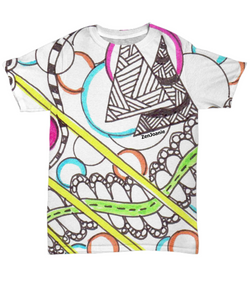Colored Tangle Art T Shirt -