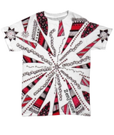 "Colored Zentangle T Shirt hand drawn by ZenJoanie - ""Centered"""