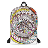 "Zentangle Art Backpack - ""Roundabout"""