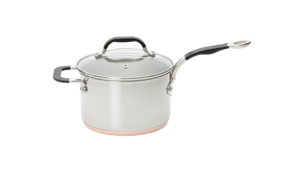 Copper Base Set of 3 – 16cm, 18cm & 20cm Saucepans