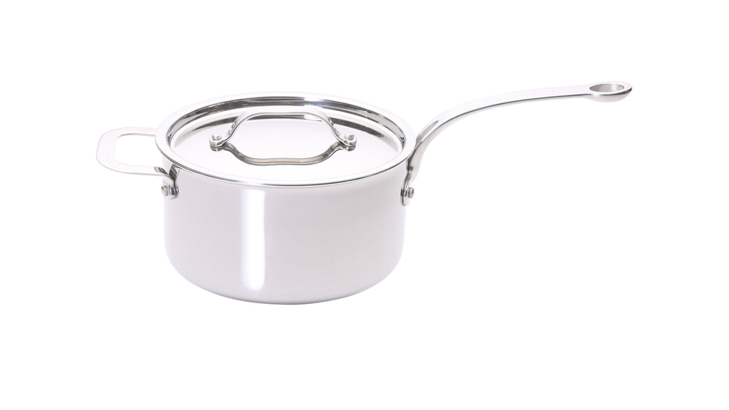 Stainless Steel Tri-ply 20cm Saucepan