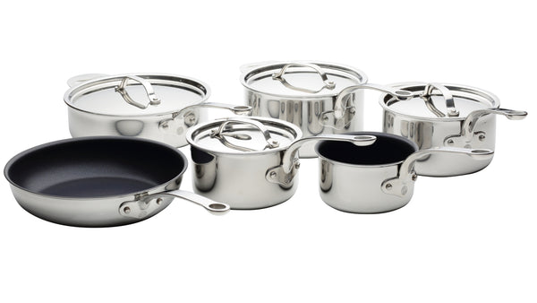 Stainless Steel Tri-Ply Set of 6 – 14cm, 16cm, 18cm & 20cm Saucepans; 24cm Sauté Pan and 26cm Frying Pan