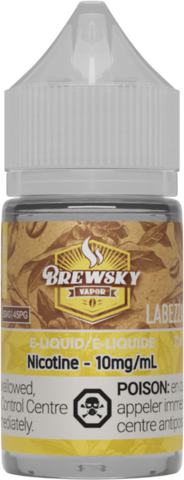 Brewsky Labezza hazelnut coffee nic salt