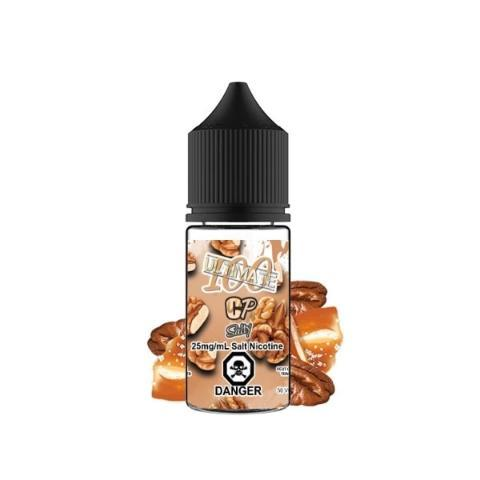ultimate 100 salts salty caramel pecan nic salt vape juice
