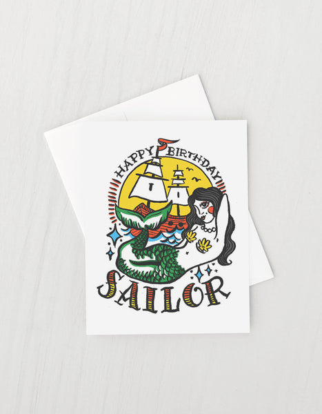 FRANNIE FLASH SAILOR BIRTHDAY CARD