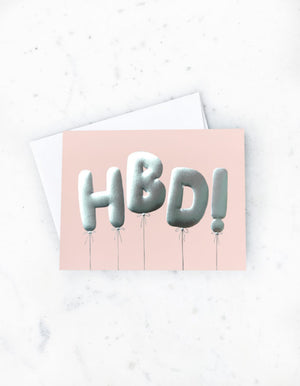 Load image into Gallery viewer, HBD BALLOONS CARD