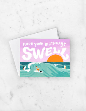 Load image into Gallery viewer, SWELL BIRTHDAY CARD