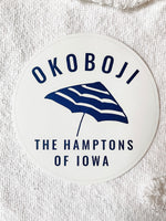 OKOBOJI THE HAMPTONS OF IOWA CAR STICKER