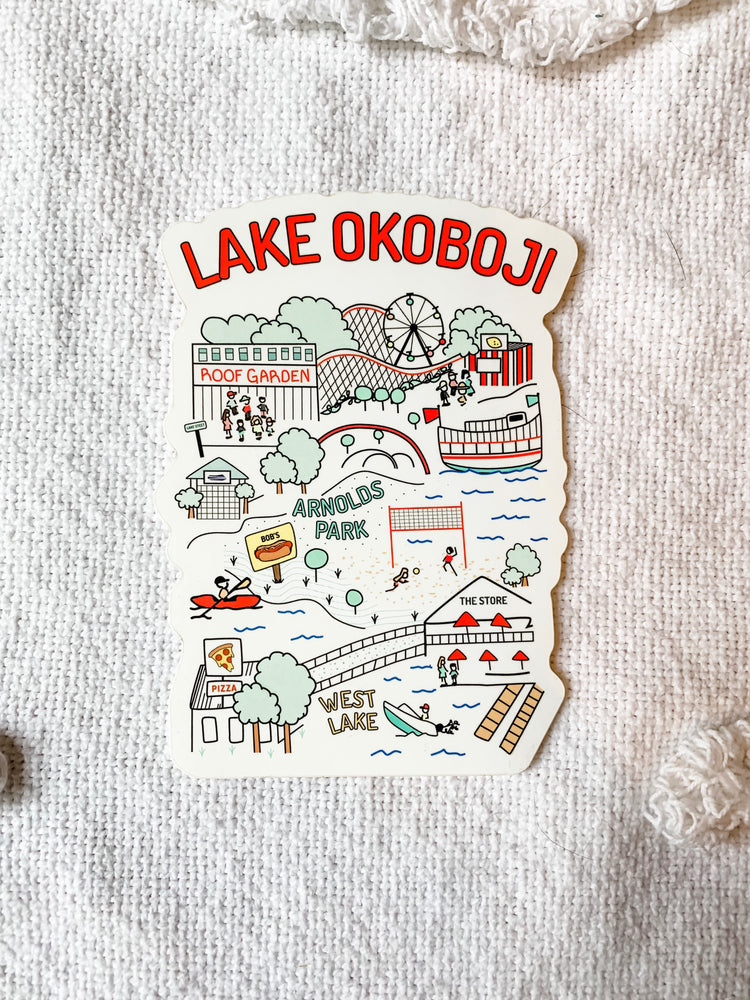 Load image into Gallery viewer, LAKE OKOBOJI DOODLE STICKER