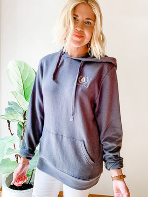 Load image into Gallery viewer, EMBROIDERED OKOBOJI CREST HOODIE