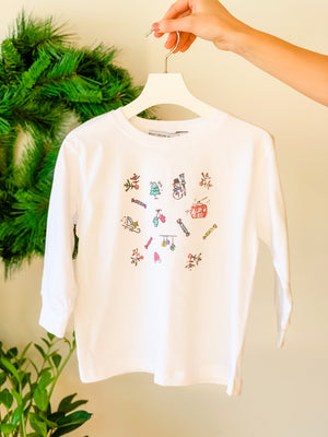 KIDS HOLIDAY DOODLES LONG SLEEVE