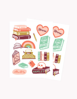 Load image into Gallery viewer, BIBLIOPHILE STICKER SHEETS