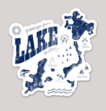 GREETINGS FROM THE LAKE STICKER