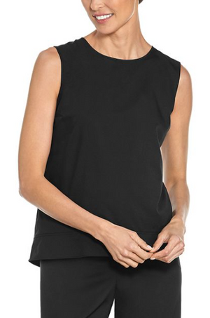 Load image into Gallery viewer, ST. TROPEZ SWING TANK TOP BLACK