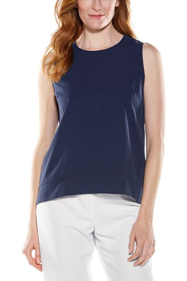 Load image into Gallery viewer, ST. TROPEZ SWING TANK TOP NAVY
