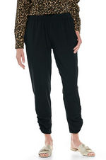 GISELLE RUCHED PANTS BLACK