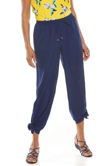 PETRA WIDE LEG PANTS NAVY