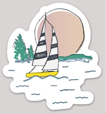 SUNSET SAIL STICKER