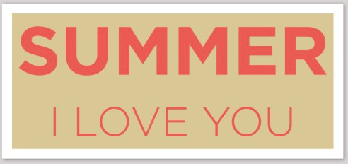 SUMMER I LOVE YOU STICKER