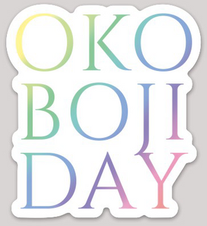 OKOBOJI DAY RAINBOW STICKER