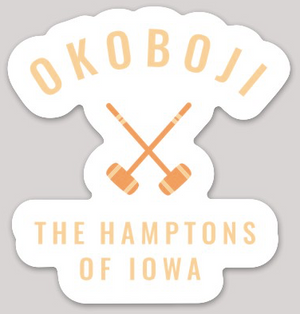 Load image into Gallery viewer, HAMPTONS OF IOWA CROQUET STICKER