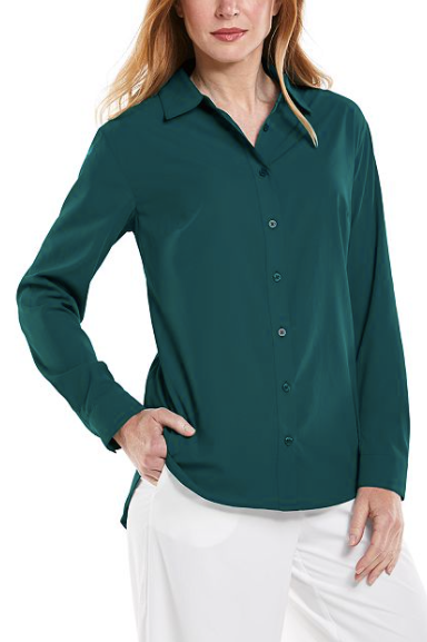 Load image into Gallery viewer, RHODES SHIRT EMERALD TEAL