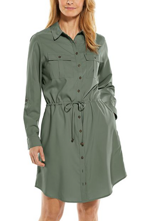 NAPA TRAVEL DRESS OLIVE
