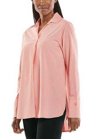 Load image into Gallery viewer, PALMARIA TRAVEL TUNIC CORAL STRIPE