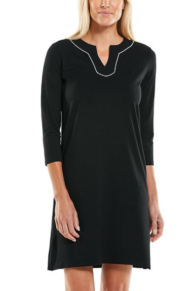 OCEANVIEW TUNIC DRESS BLACK