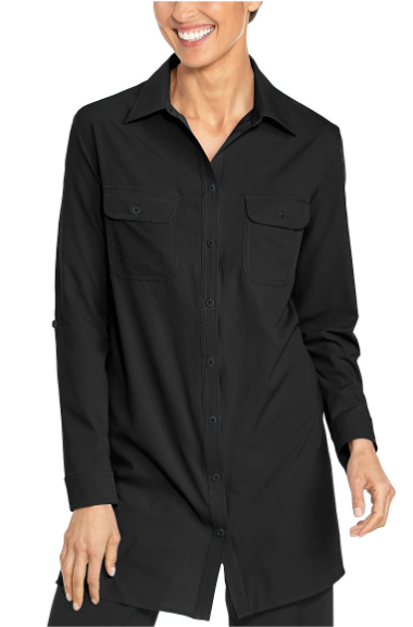 BLACK SANTORINI TUNIC SHIRT
