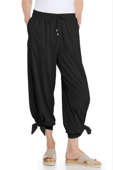 PETRA WIDE LEG PANTS BLACK