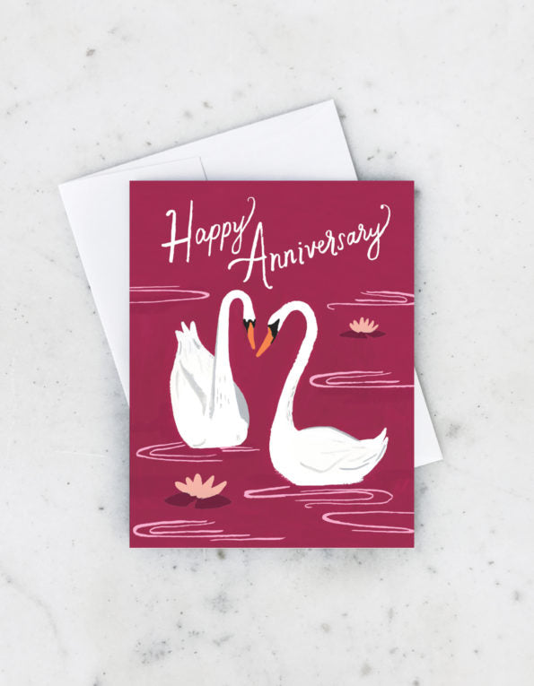 ANNIVERSARY SWANS CARD