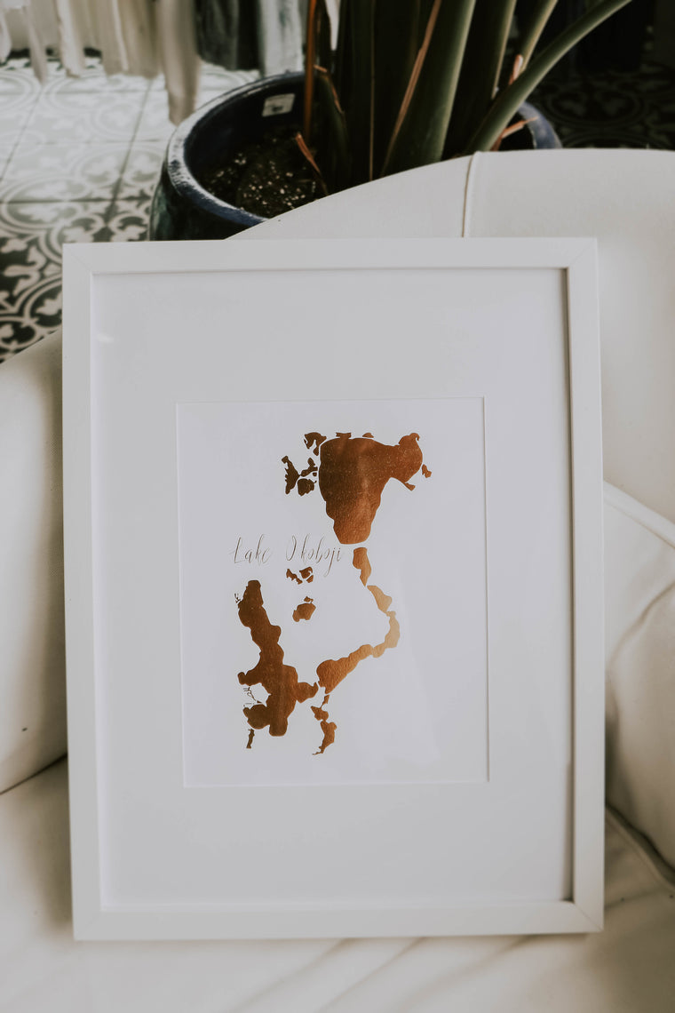 LAKES PRINT WITH FRAME