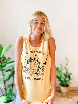 Load image into Gallery viewer, BLOODY MARYS & HAIL MARYS TANK YELLOW/BLACK