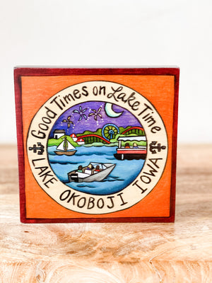 GOOD TIMES ON LAKE TIME PLAQUE