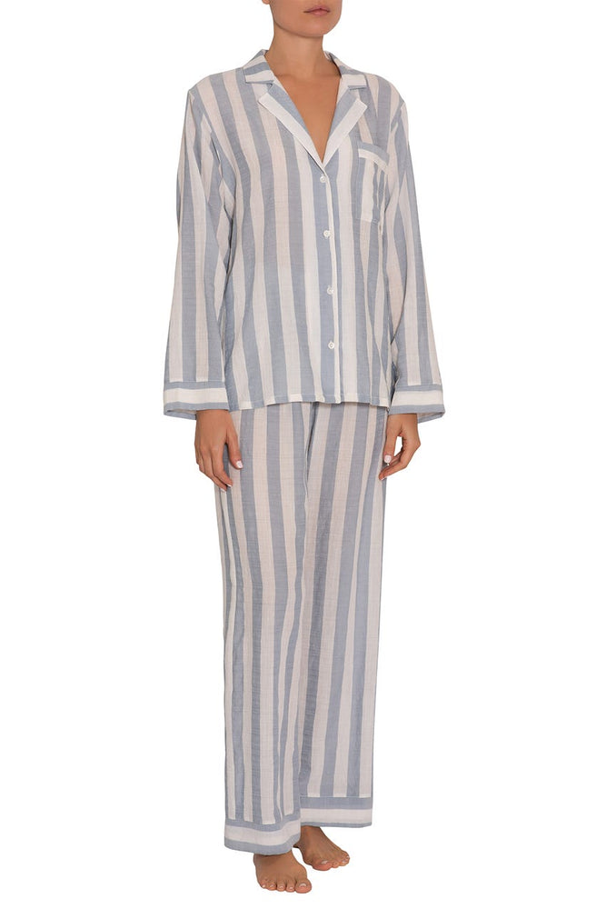 UMBRELLA STRIPES WOVEN LONG PJ