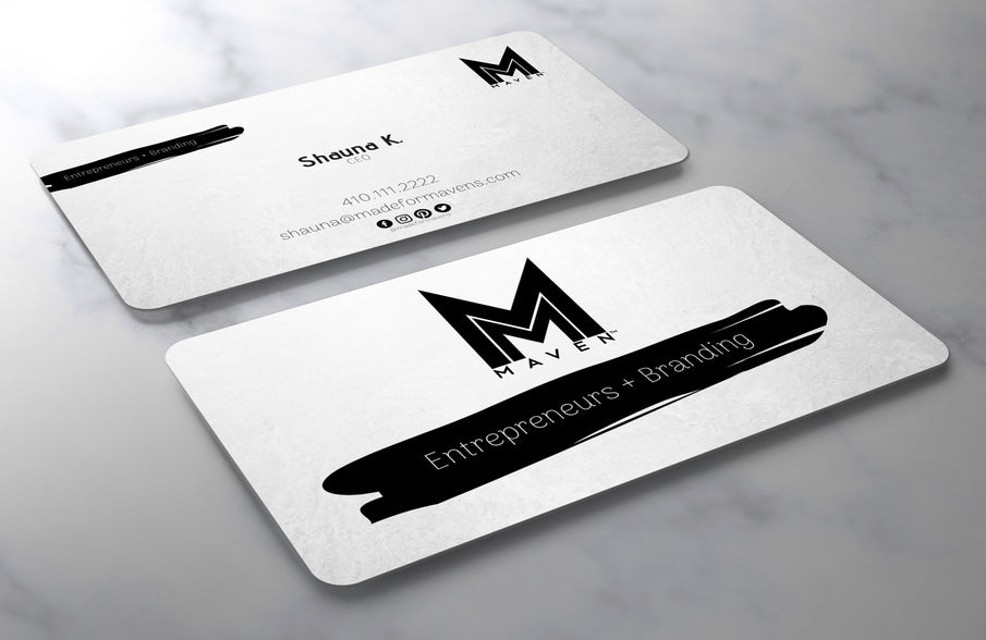 Brush Stroke Business Card