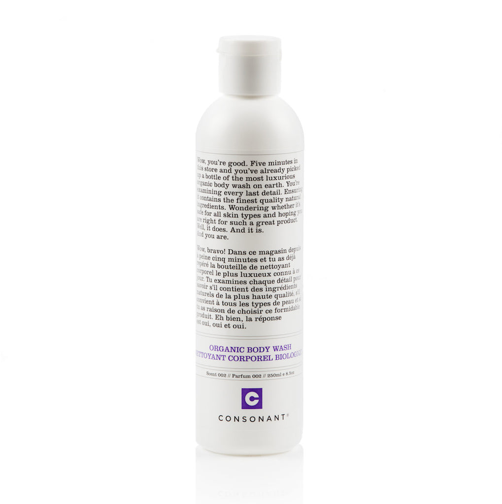 Natural Organic Body Wash Scent 002 250ml
