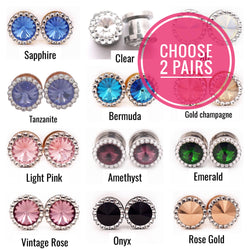 Choose 2 Pairs of Swarovski Crystal Plugs - Defiant Jewelry