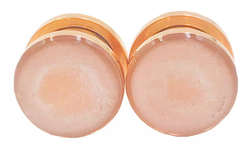 Rose Gold Satin Gloss Plugs - Defiant Jewelry