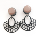 Blush Nude Honeycomb Dangle Plugs