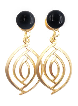 Black Gloss Swirl Dangle Plugs