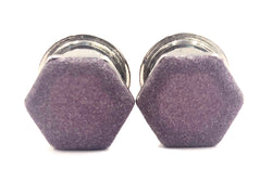 Matte Purple Shimmer Hexagon Plugs