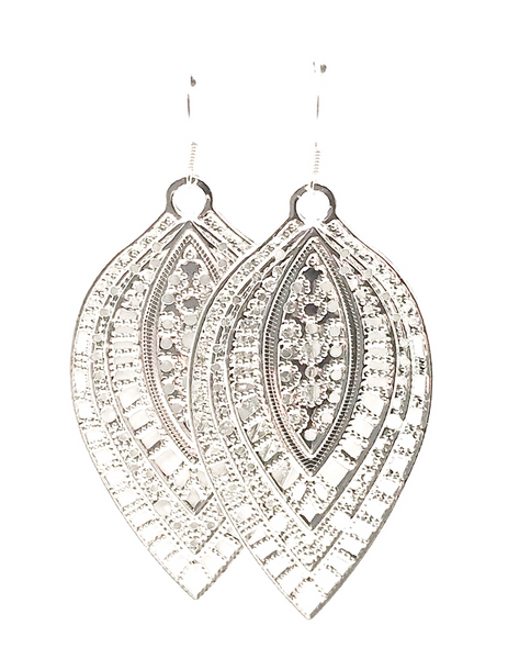Intricate Leaf Dangle Earrings
