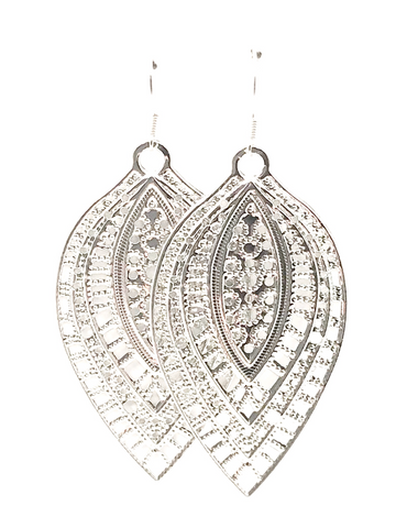 Intricate Leaf Dangle Earrings - Defiant Jewelry