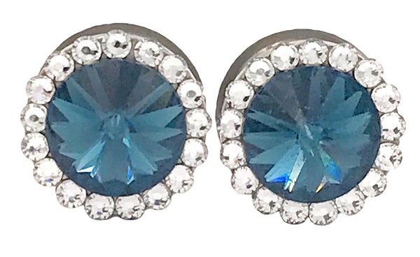 Muted Blue Swarovski Crystal Plugs